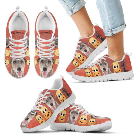Irish Wolfhound Happy Halloween Print Running Shoes For Kids/Women-Free Shipping