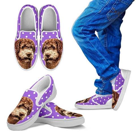 Lagotto Romagnolo Dog Print Slip Ons For Kids-Express Shipping