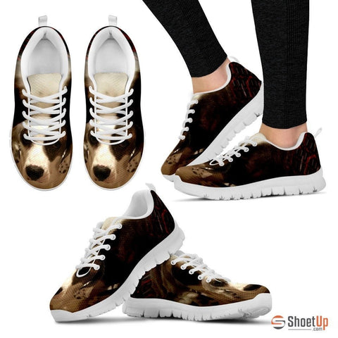 Lori M Pastore/ Cute Dog Print Running Shoe Women-Free Shipping