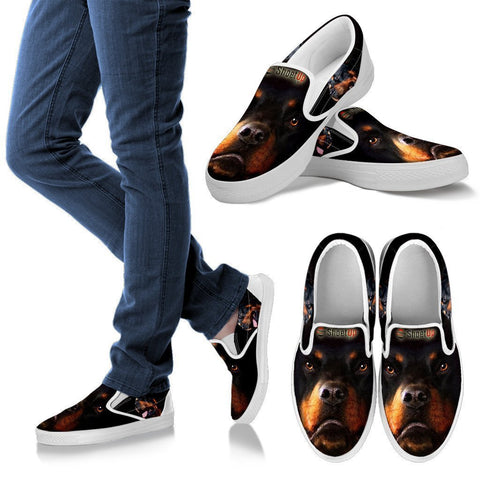 Amazing Rottweiler Print Slip Ons For Women-Free Shipping