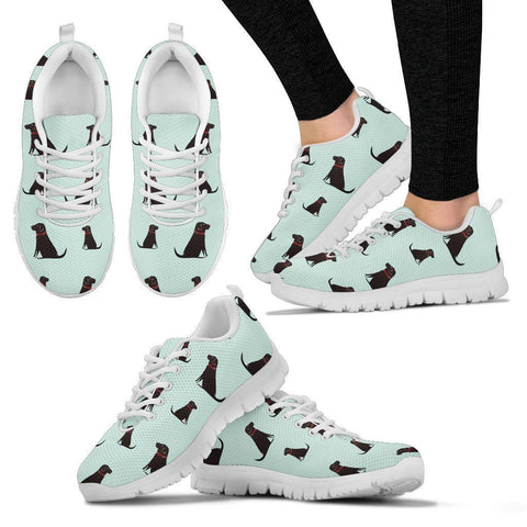 Labrador Pattern Print Sneakers For Women- Express Shipping