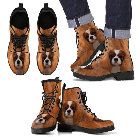 Cavalier King Charles Spaniel Print Boots For Men-Free Shipping