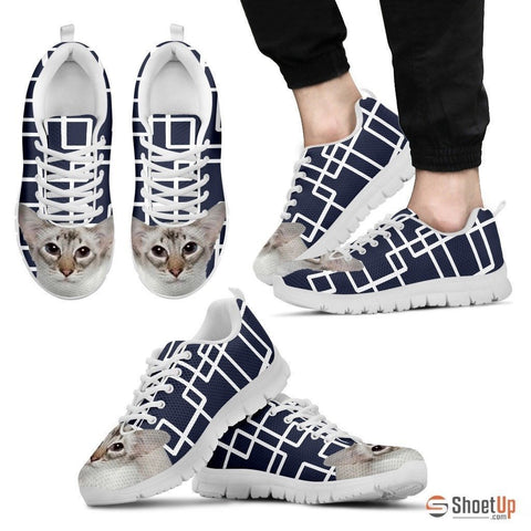 Balinese Cat Print Running Shoes For Men-Free Shipping