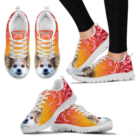 Customized Sneakers-Dog Print Running Shoes For Women-Designed By Sandy Hunter-Express Shipping