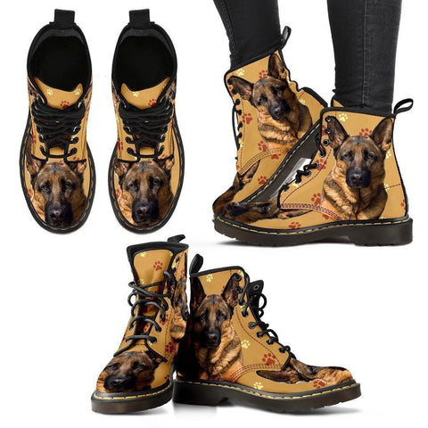 German Shepherd Print Boots For Women- Express Shipping