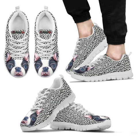 Cute Boston Terrier Print Running Shoes For Men-Free Shipping