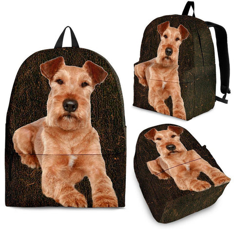 Irish Terrier Dog Print Backpack-Express Shipping