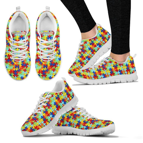 Autism Symbol Sneakers (Chose from Men, Women or Kids)