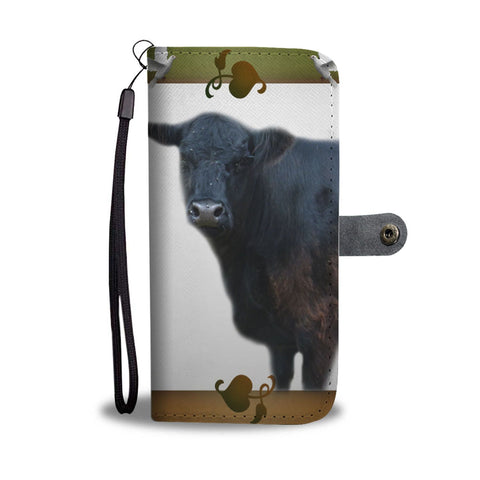 Galloway Cattle (Cow) Print Wallet Case-Free Shipping