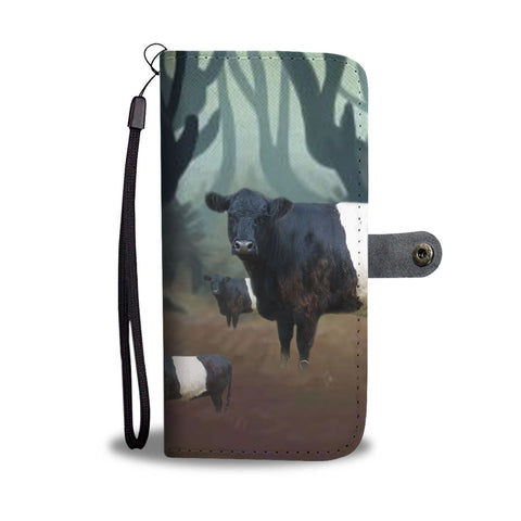 Belted Galloway Cattle (Cow) Print Wallet Case-Free Shipping