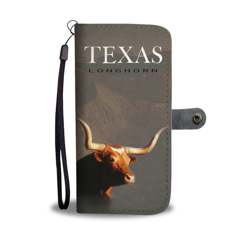 Texas Longhorn Cattle (Cow) Print Wallet Case-Free Shipping