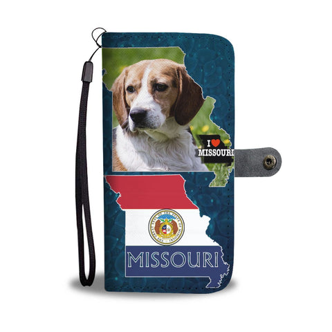 Cute Beagle Dog Print Wallet Case-Free Shipping-MO State