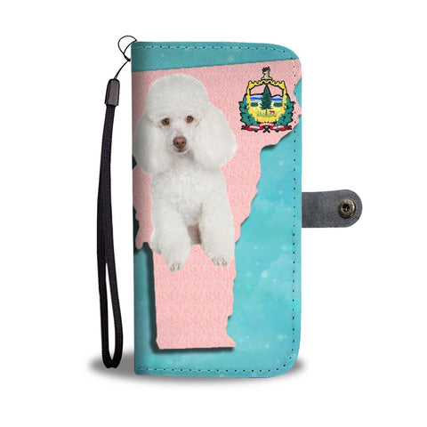 Poodle Dog Print Wallet Case-Free Shipping-VT State