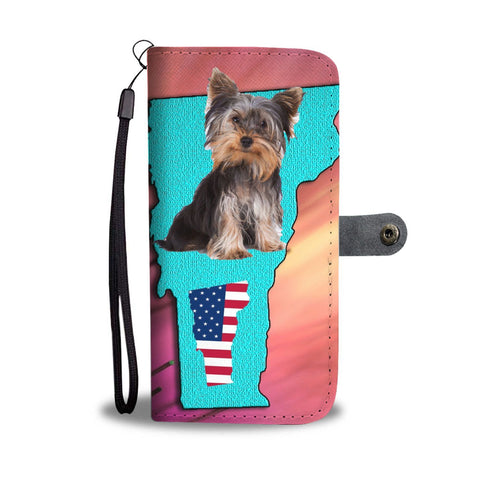Cute Yorkie Print Wallet Case-Free Shipping-VT State
