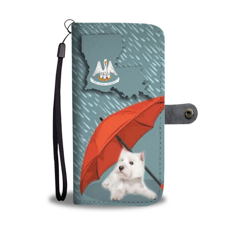 West Highland White Terrier (Westie) Print Wallet Case-Free Shipping-LA State