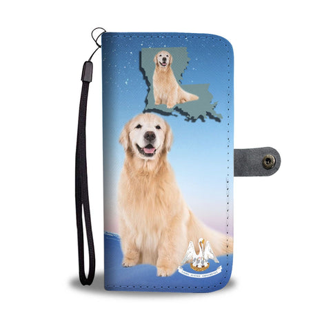 Golden Retriever Print Wallet Case-Free Shipping-LA State