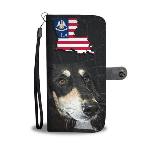 Saluki Dog Print Wallet Case-Free Shipping-LA State