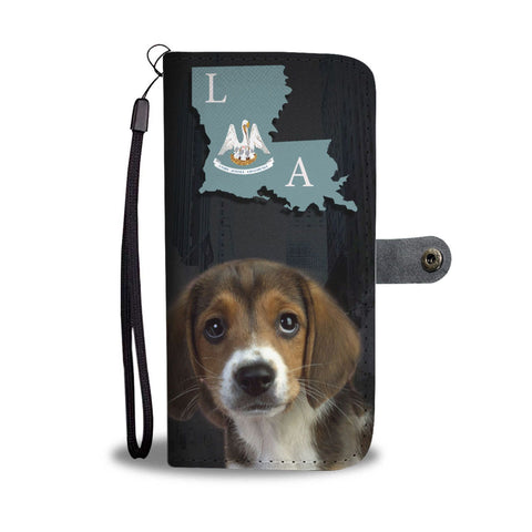 Amazing Beagle Dog Print Wallet Case-Free Shipping-LA State