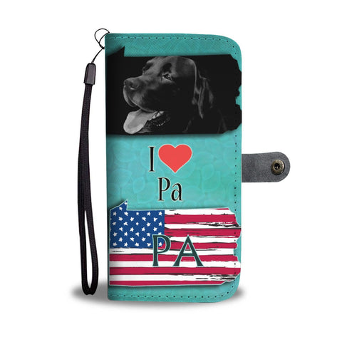Black Labrador Print Limited Edition Wallet Case-Free Shipping-PA State