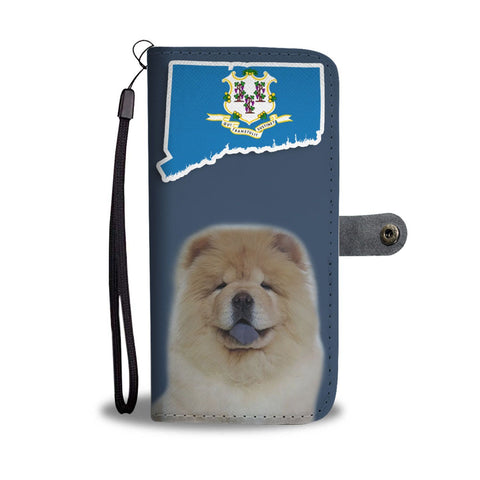 Chow Chow Print Wallet Case-Free Shipping-CT State