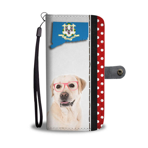 Labrador Retriever Print Wallet Case-Free Shipping-CT State