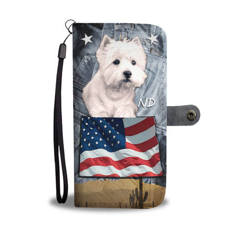 West Highland White Terrier Print Wallet Case-Free Shipping-ND State