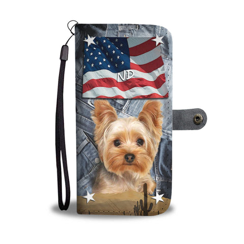 Cute Yorkshire Terrier Print Wallet Case-Free Shipping-ND State