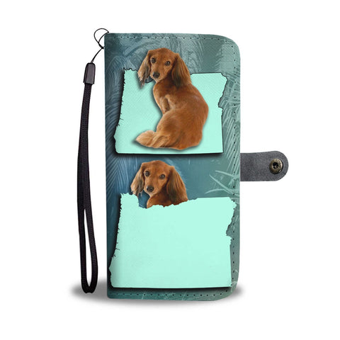 Dachshund Dog Print Wallet Case-Free Shipping-OR State