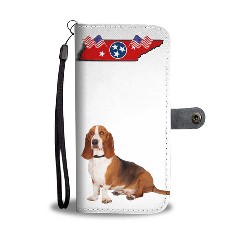 Basset Hound Print Wallet Case-Free Shipping-TN State