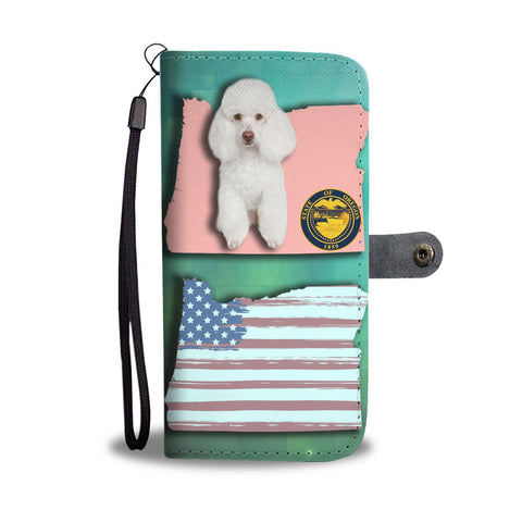 Cute Poodle Dog Print Wallet Case-Free Shipping-OR State