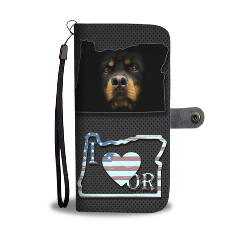 Rottweiler Dog Print Wallet Case-Free Shipping-OR State
