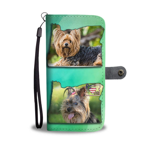Cute Yorkie Print Wallet Case-Free Shipping-OR State