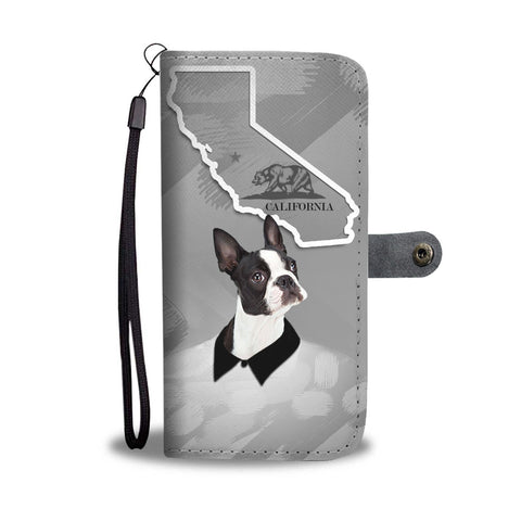 Boston Terrier Print Wallet Case-Free Shipping-CA State