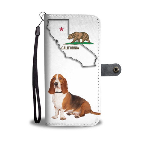Basset Hound Print Wallet Case-Free Shipping-CA State
