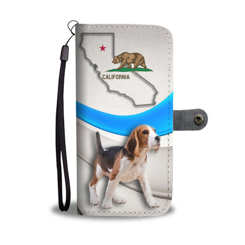 Beagle Print Wallet Case-Free Shipping-CA State