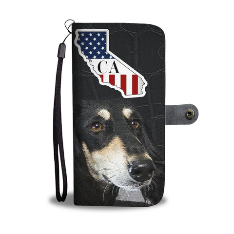 Saluki Dog Print Wallet Case-Free Shipping-CA State