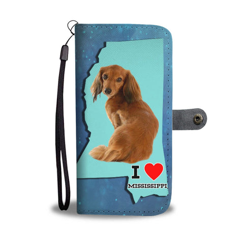 Dachshund Print Wallet Case-Free Shipping-MS State