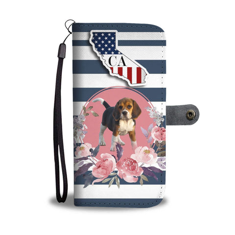 Cute Beagle Print Wallet Case-Free Shipping-CA State