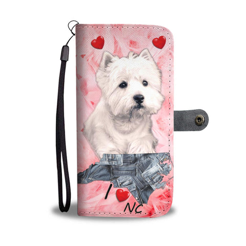 Cute West Highland White Terrier Print Wallet Case-Free Shipping-NC State