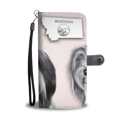 Bearded Collie Print Wallet Case-Free Shipping-MT State