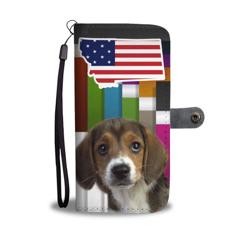 Cute Beagle Print Wallet Case-Free Shipping-MT State