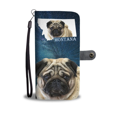 Pug Print Wallet Case-Free Shipping-MT State