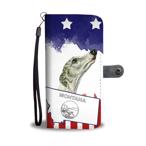 Amazing Whippet Print Wallet Case-Free Shipping-MT State