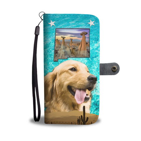 Amazing Golden Retriever Print Wallet Case-Free Shipping-NM State