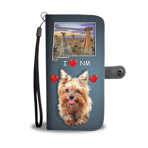 Lovely Yorkie Print Wallet Case-Free Shipping-NM State