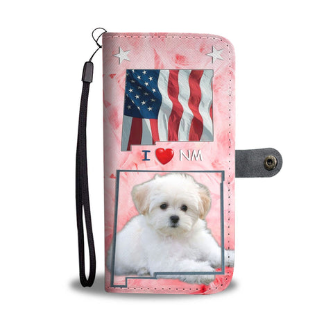 Lovely Maltese Dog Print Wallet Case-Free Shipping-NM State
