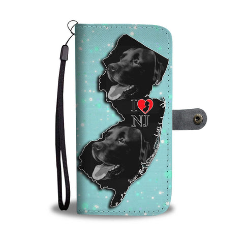 Black Labrador Print Wallet Case-Free Shipping-NJ State