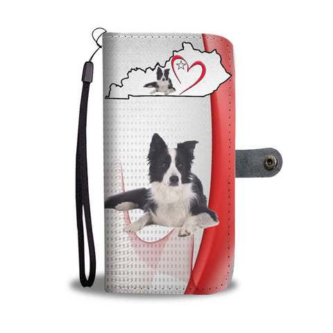Border Collie Print Wallet Case-Free Shipping-KY State