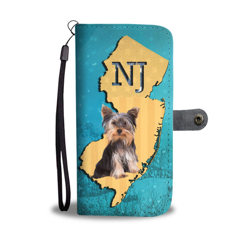 Cute Yorkie Print Wallet Case-Free Shipping-NJ State