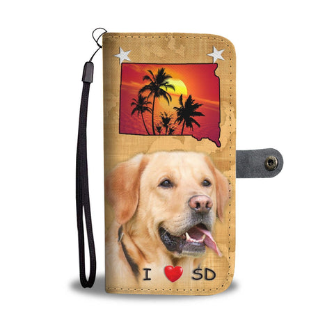 Cute Labrador Retriever Print Wallet Case-Free Shipping-SD State